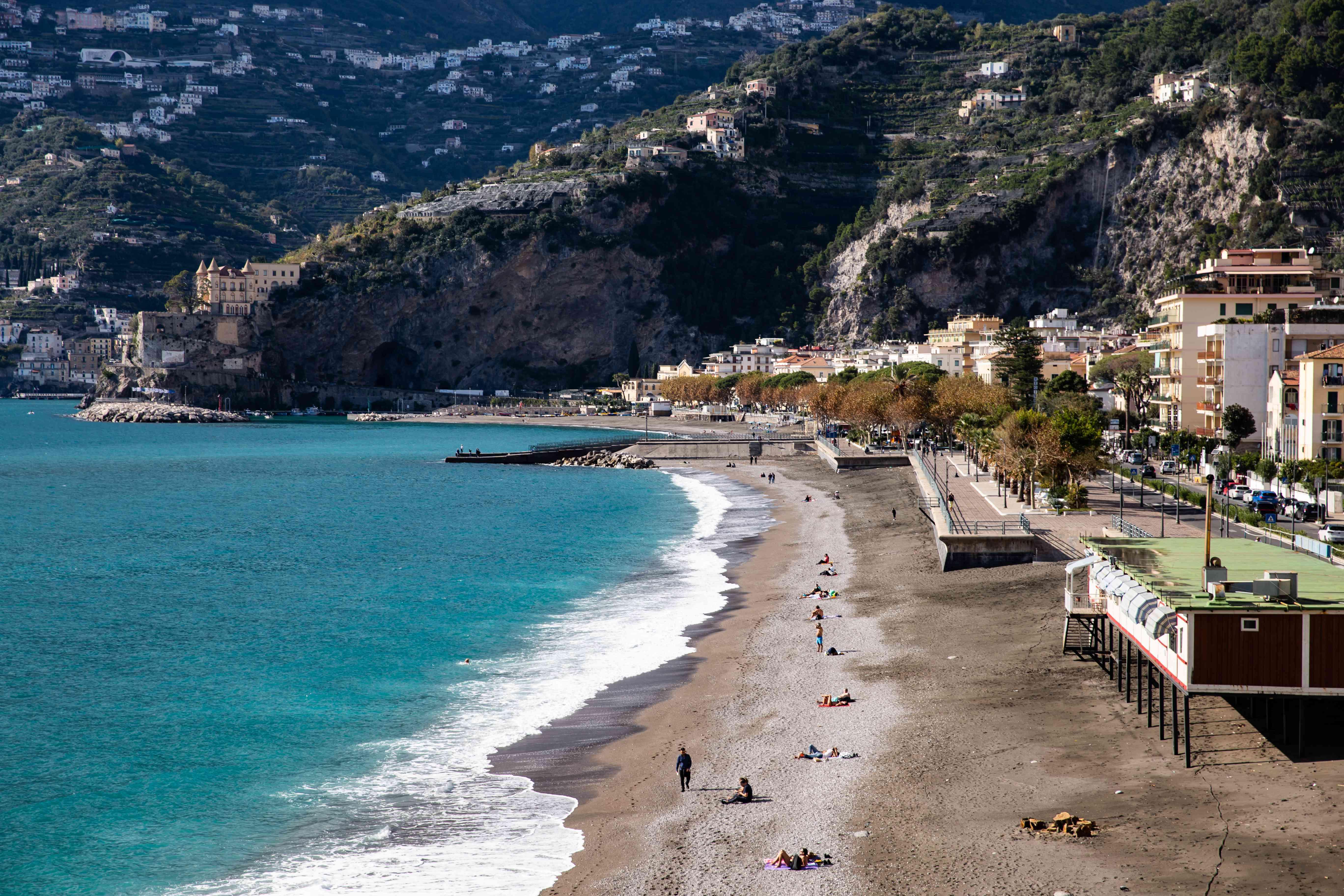Maiori Beach, Amalfi Coast, Italy