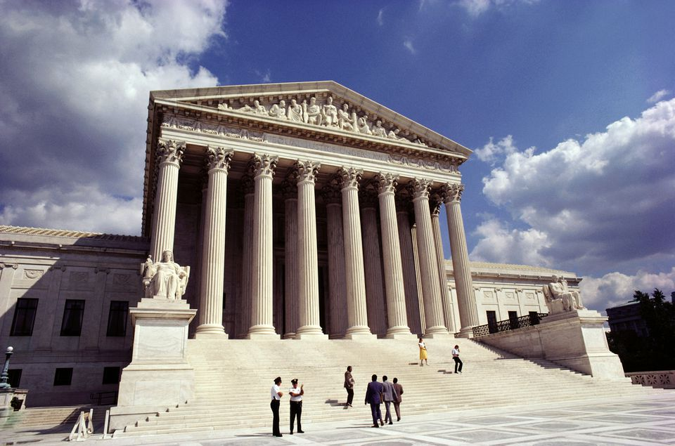 Facade of a government building, US Supreme Court, Washington DC, USA