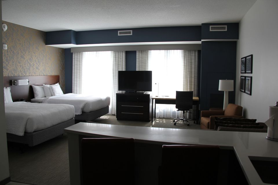 Interior view of the spacious Residence Inn in Raleigh, North Carolina.