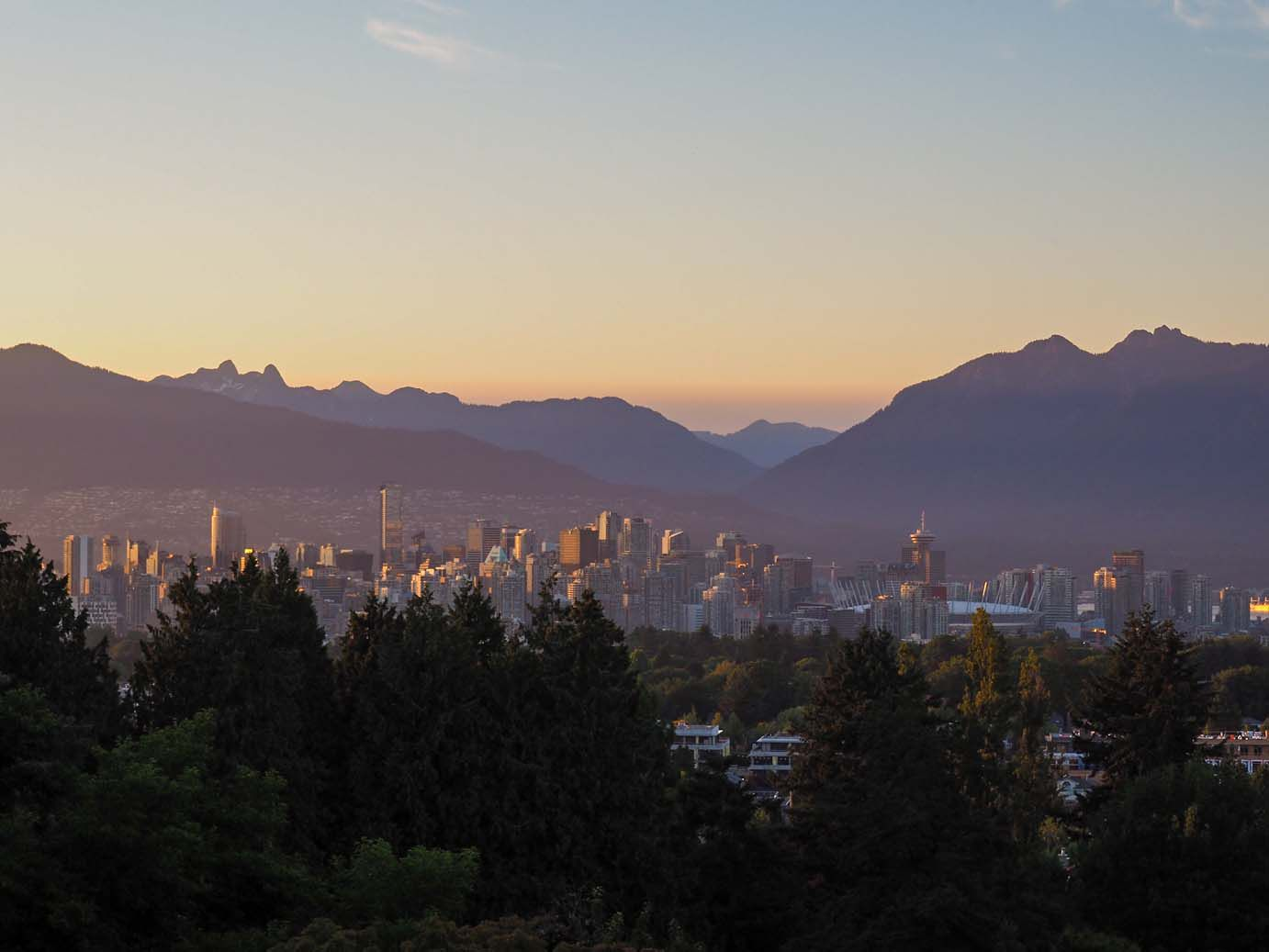 View of vancouver from Queen Elizabeth Park