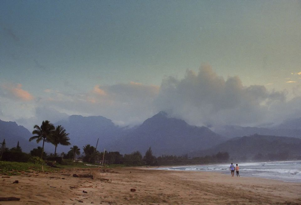Walk on the beach in Kauai, Hawaii