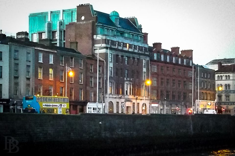 The Clarence - the Dublin hotel owned by members of U2, one early winter morning