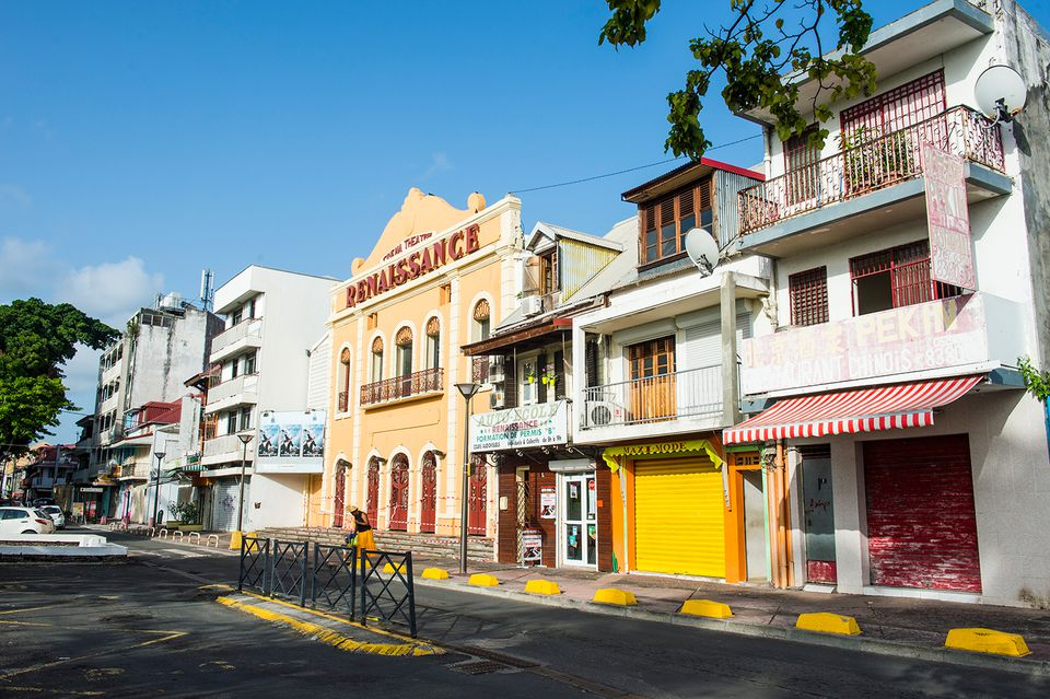 Colonial buildings in Guadeloupe