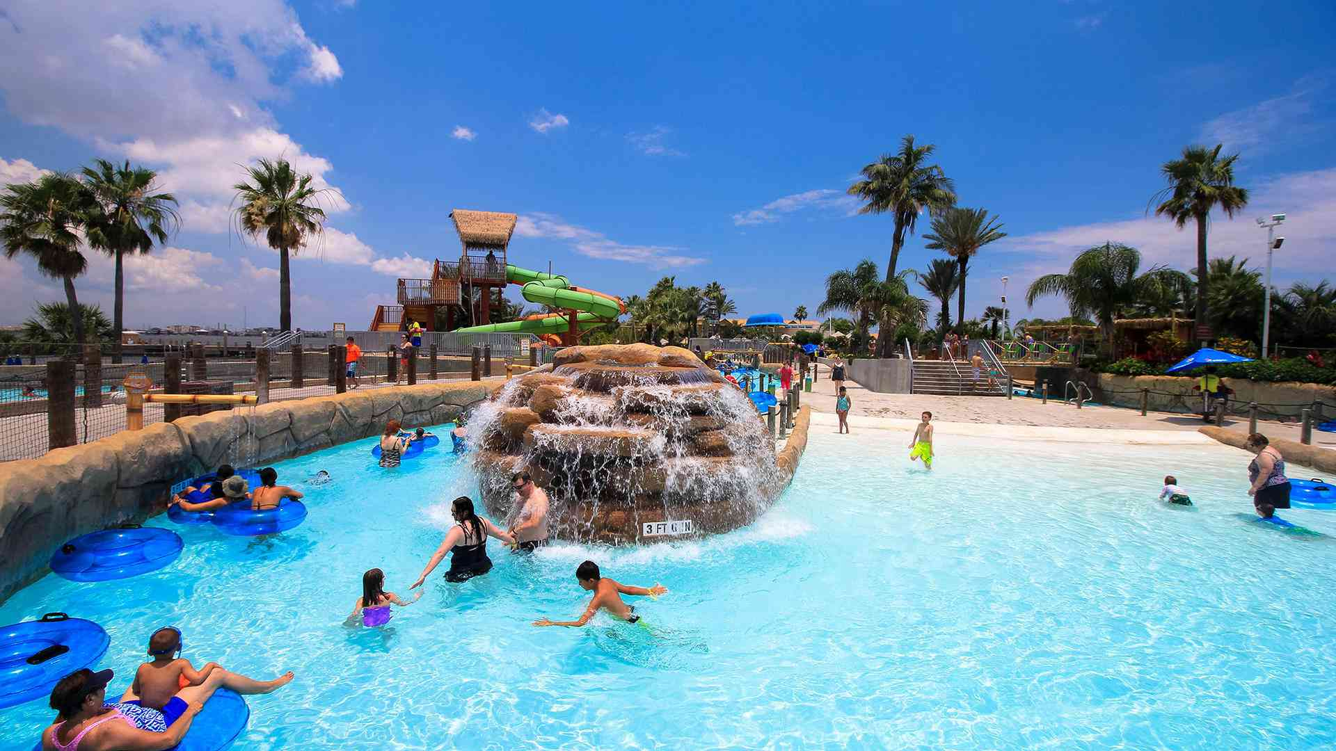 Palm Beach water park at Moody Gardens in Texas