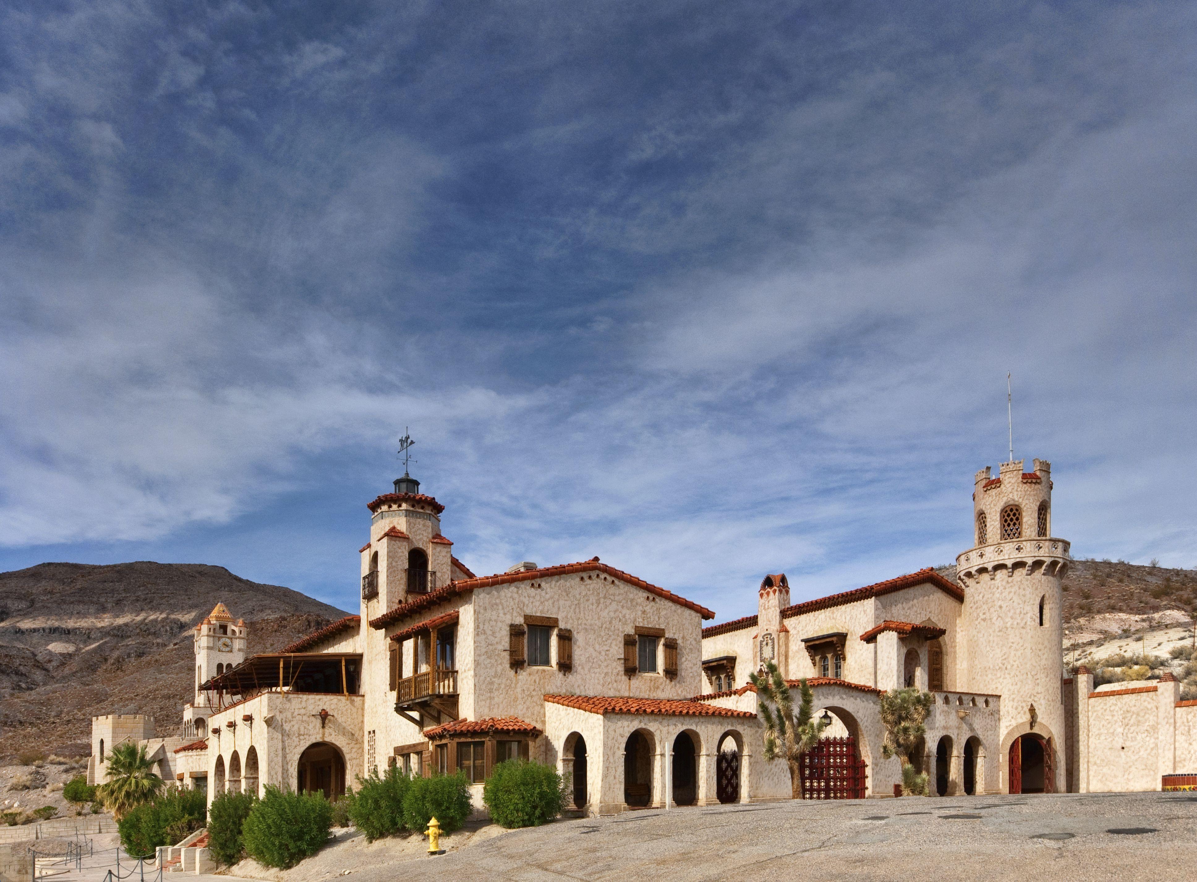 Scotty's Castle in Mojave Desert.
