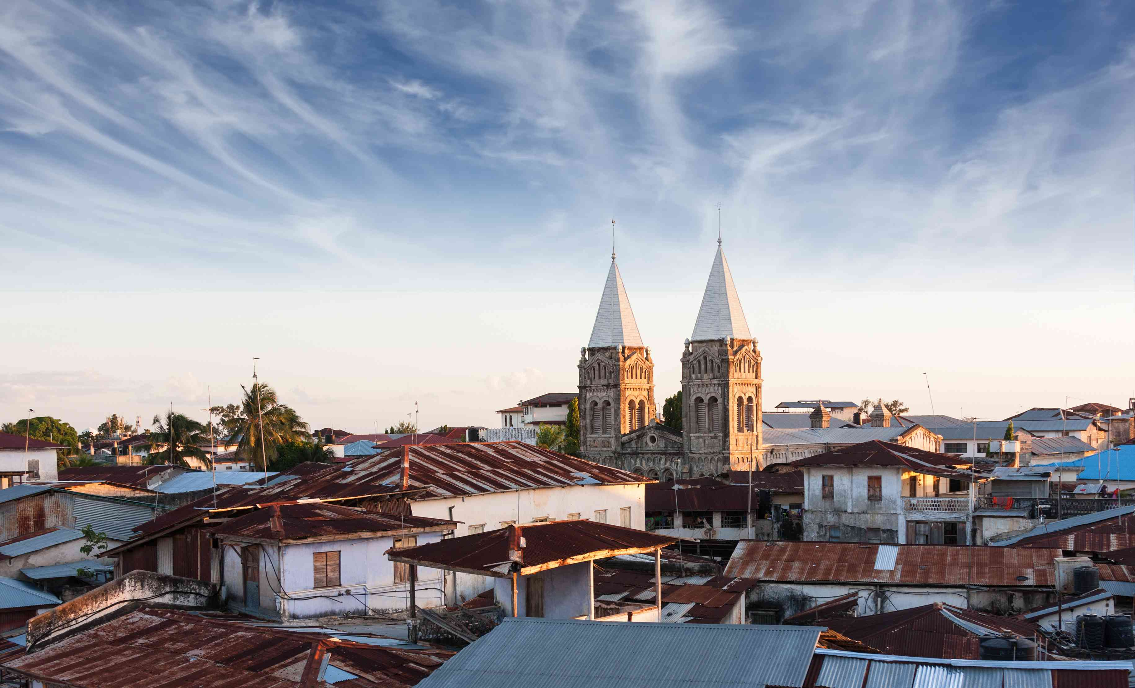 View over the rooftops of Stone Town, Zanzibar