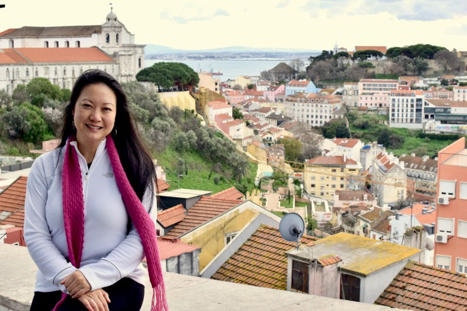 Mai Pham, Houston's Femme Foodie, in Lisbon, Portugal