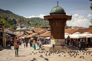 Pigeon Square in Sarajevo, Bosnia