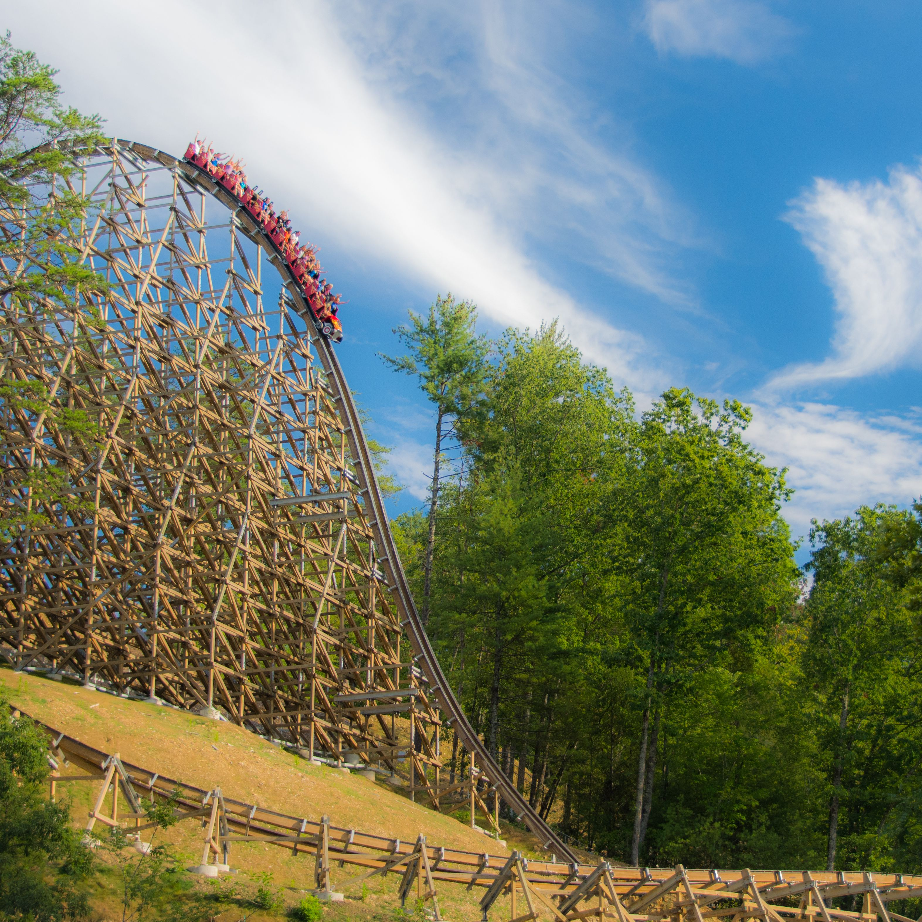 Dollywoods Lightning Rod Review Of The Roller Coaster