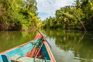 Canoeing the waters of Marajó Island, located in the Amazonian State of Pará