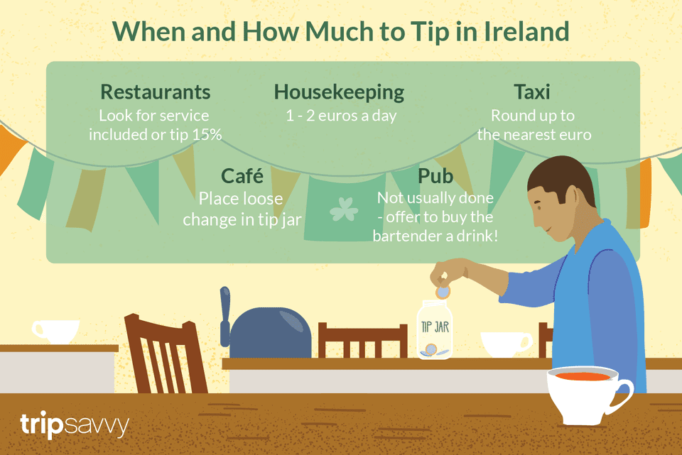 Tipping in Ireland illustration
