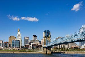 Cincinnati viewed from Covington, Kentucky