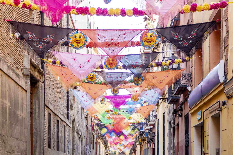 Neighborhood celebration in Lavapiés, Madrid, Spain