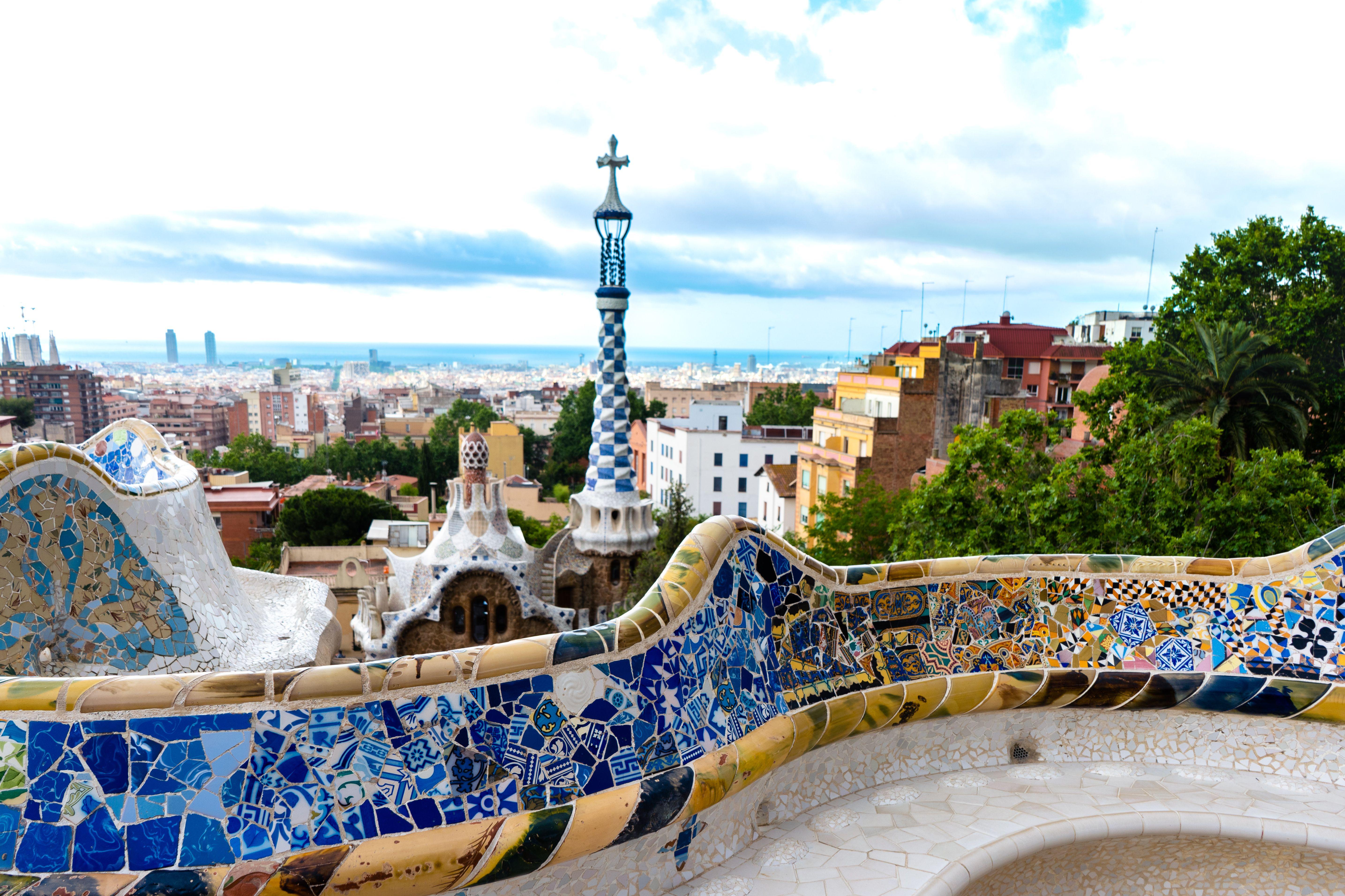 Park Güell con vistas a Barcelona