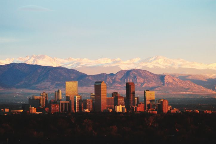 Denver, el horizonte de Colorado