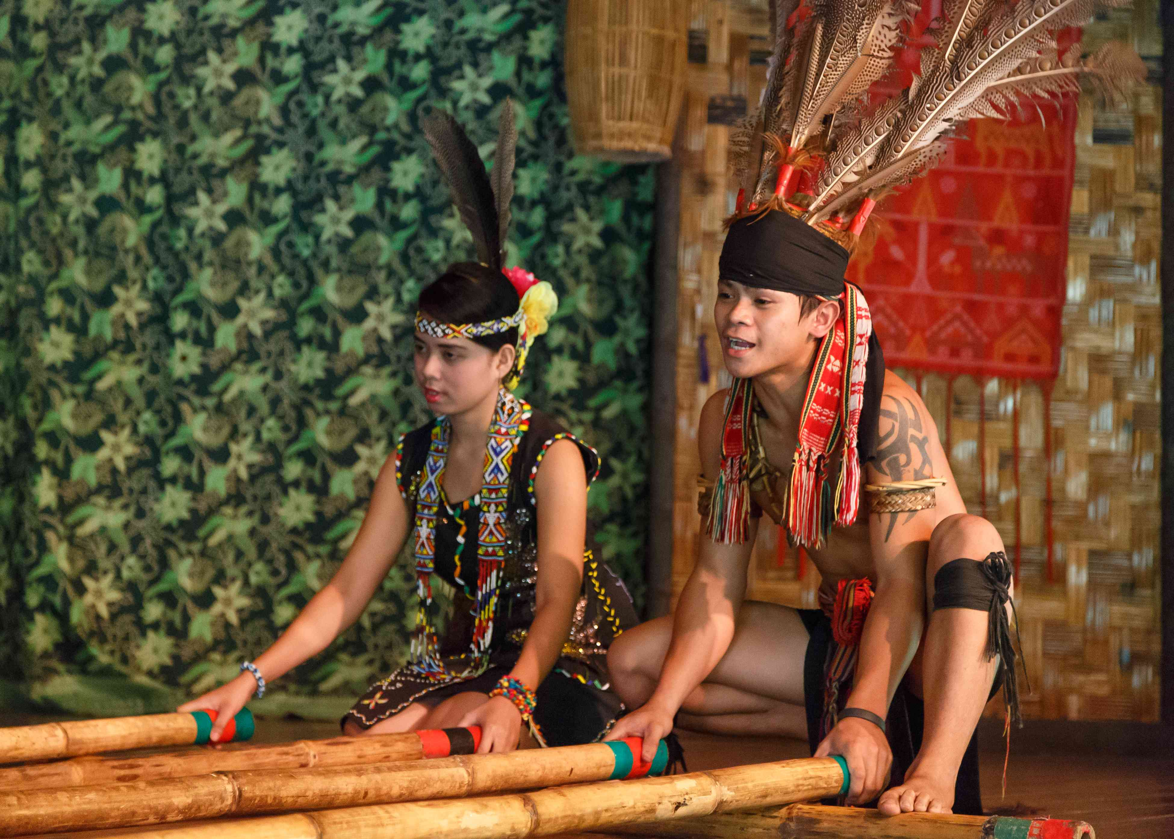 Members of Monsopiad Cultural Village during the performance of traditional dances