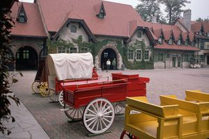 Wagons at Grant's Farm in St. Louis