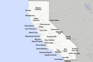 Map of California Places to Visit