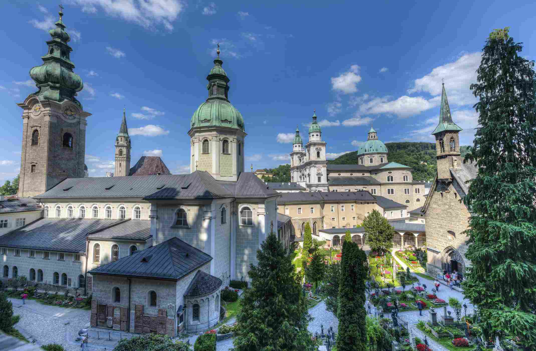 Petersfriedhof or St. Peter's Cemetery, Salzburg Austria