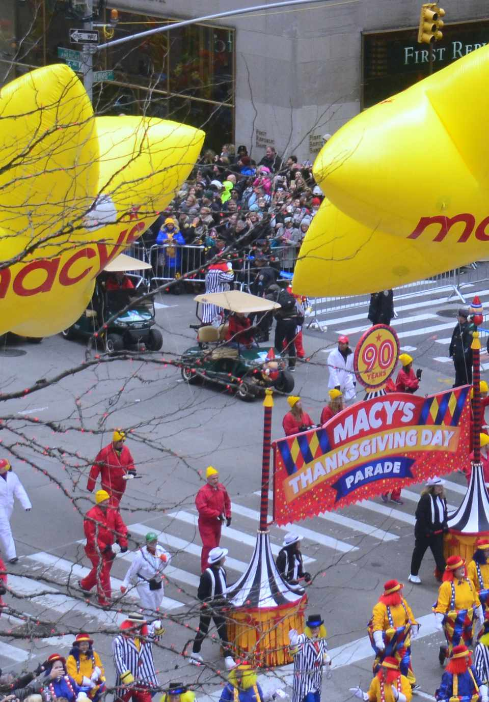 The Start of the Macy's Thanksgiving Day Parade
