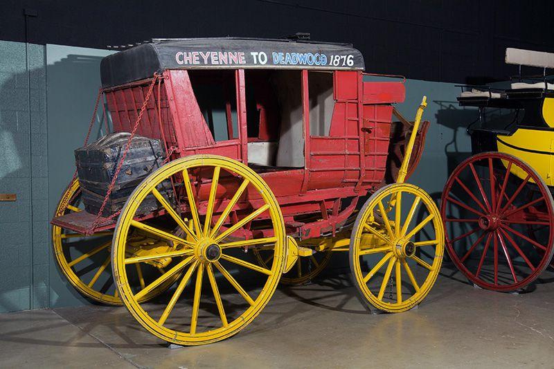 Exhibición del escenario Deadwood en el Museo Cheyenne Frontier Days Old West