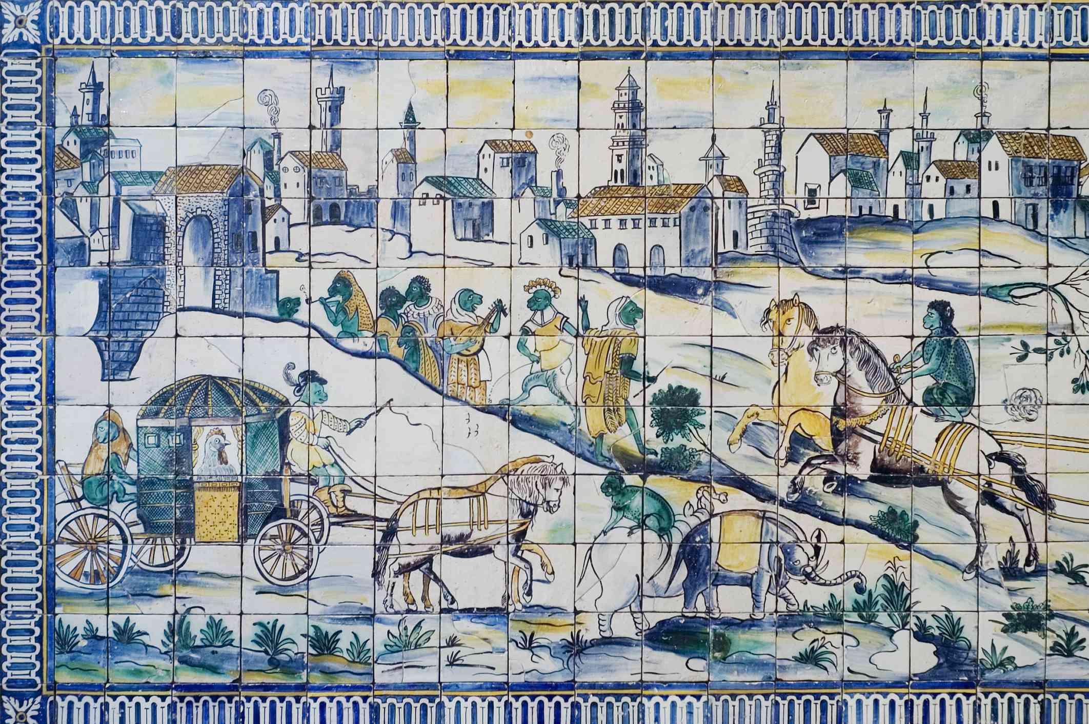 Tilework in Museu Nacional do Azulejo