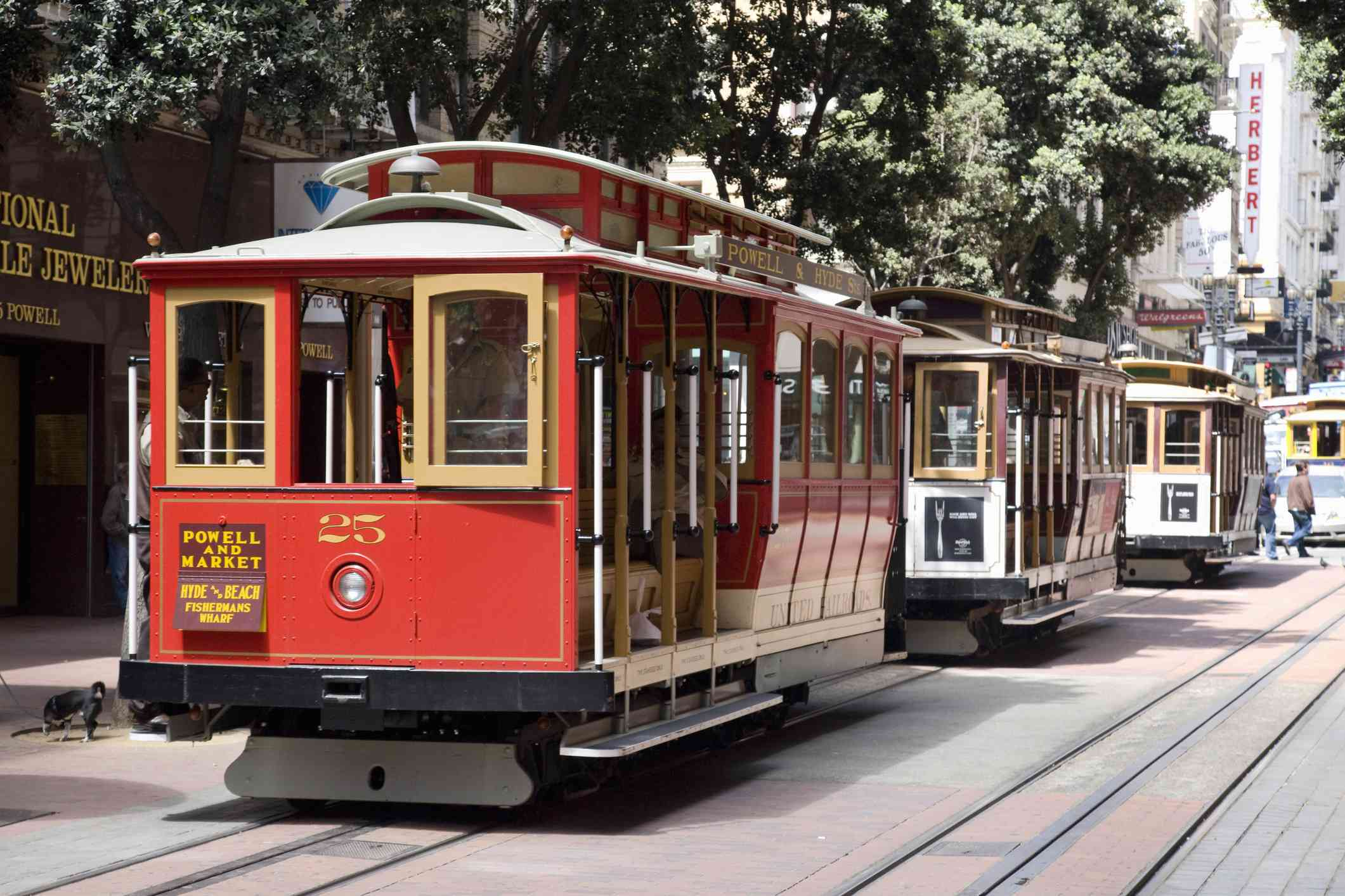 San Francisco cable car near Union Square