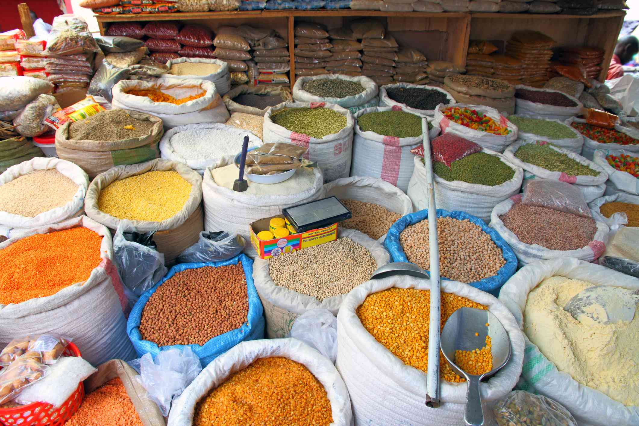 Bags of Market Food Staples