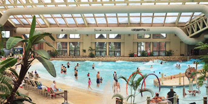 Wilderness water park in Wisconsin Dells