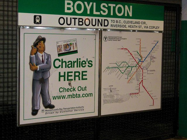 Charlie Sign MBTA