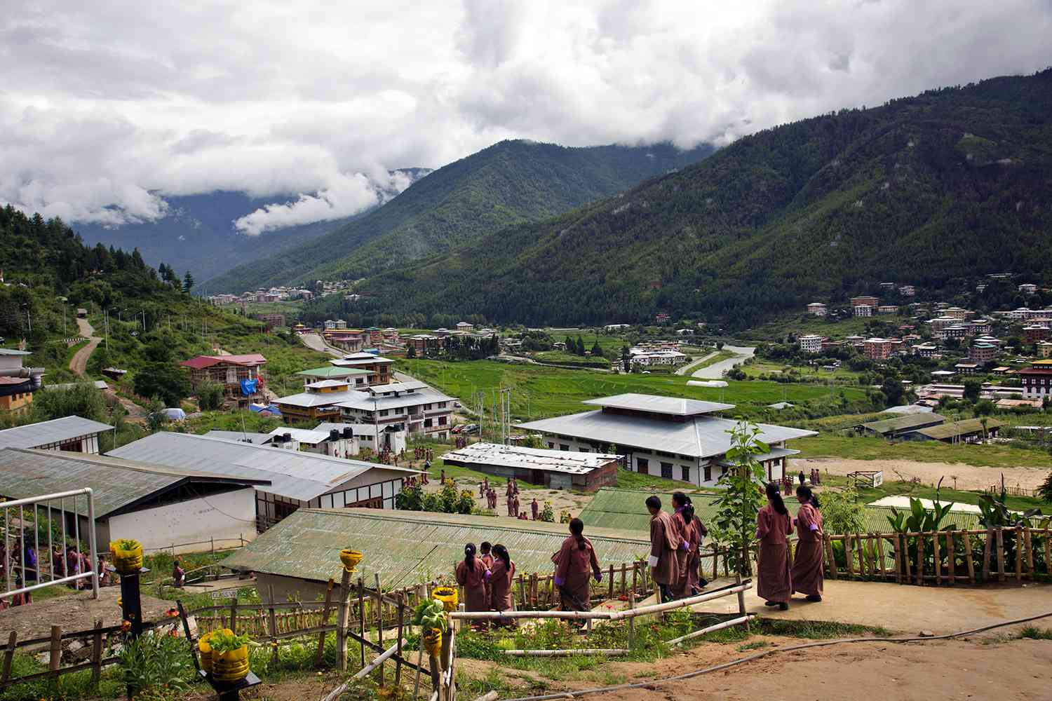 The Himalayan nation of Bhutan was very difficult to settle, due to its site