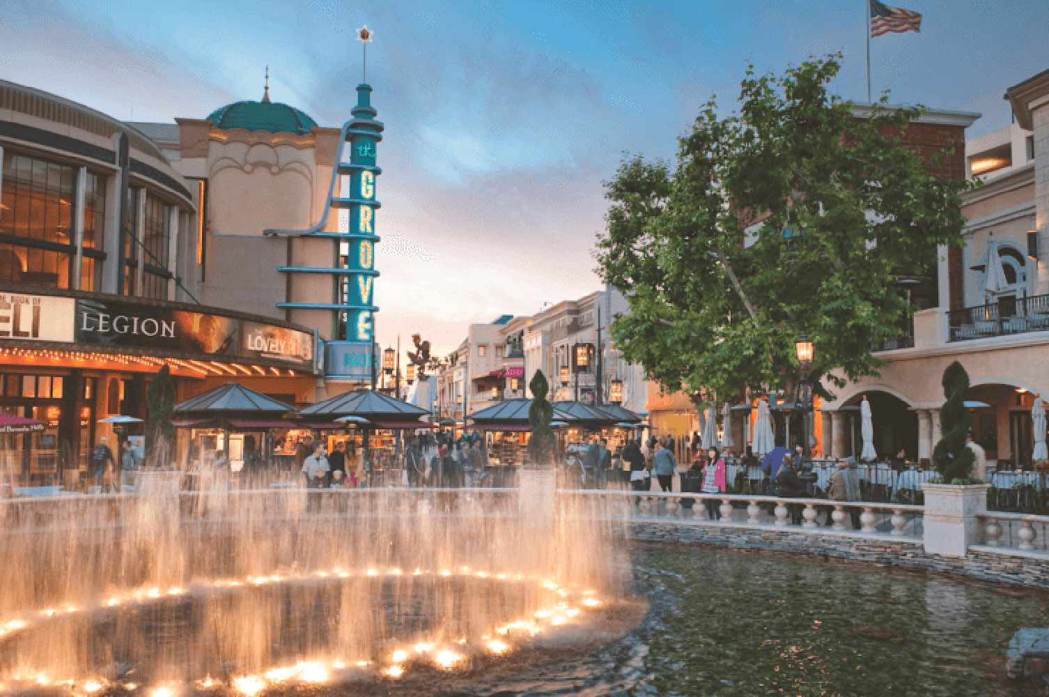 Evening at The Grove, Los Angeles