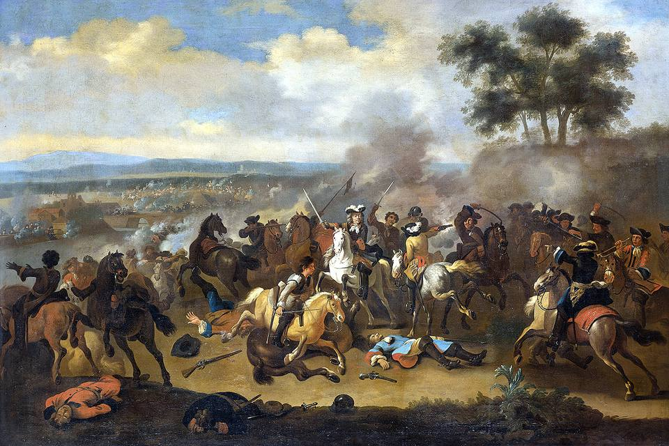 Battle of the Boyne - painting by Jan van Huchtenburg (1647–1733)
