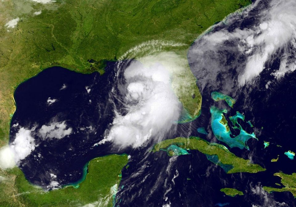 Hurricane Hermine bears down on Florida, September 2016