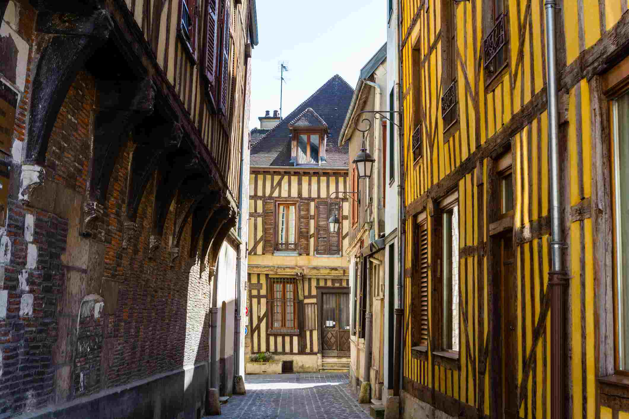 Half-Timbered Buildings in Troyes
