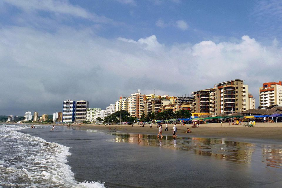 Skyline of the beach line in Tonsupa, Atacames - Ecuador