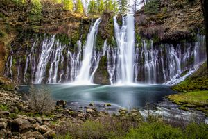 Burney falls at McArthur-Burney State Park in California.