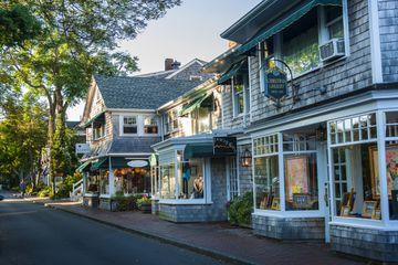 View of Edgartown buildings in Martha's Vineyard