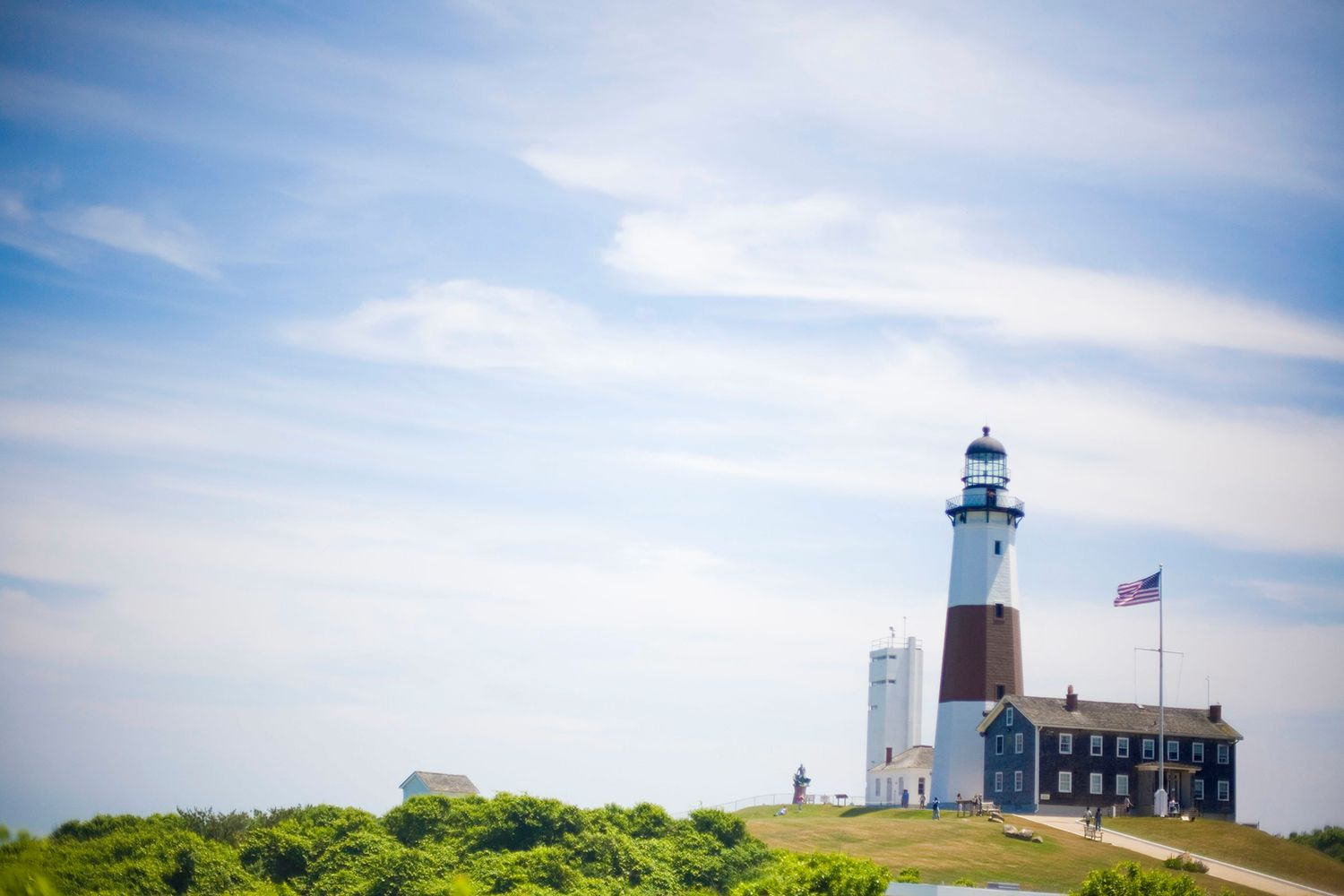 The Montauk Lighthouse, designed by John McComb at the eastern end of Long Island in New York state