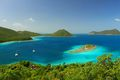 Tropical Aquamarine Waters in Caribbean Paradise