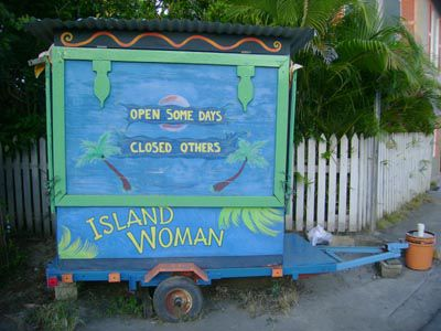 The Island Woman's shack is one of the most photographed spots in Dewey
