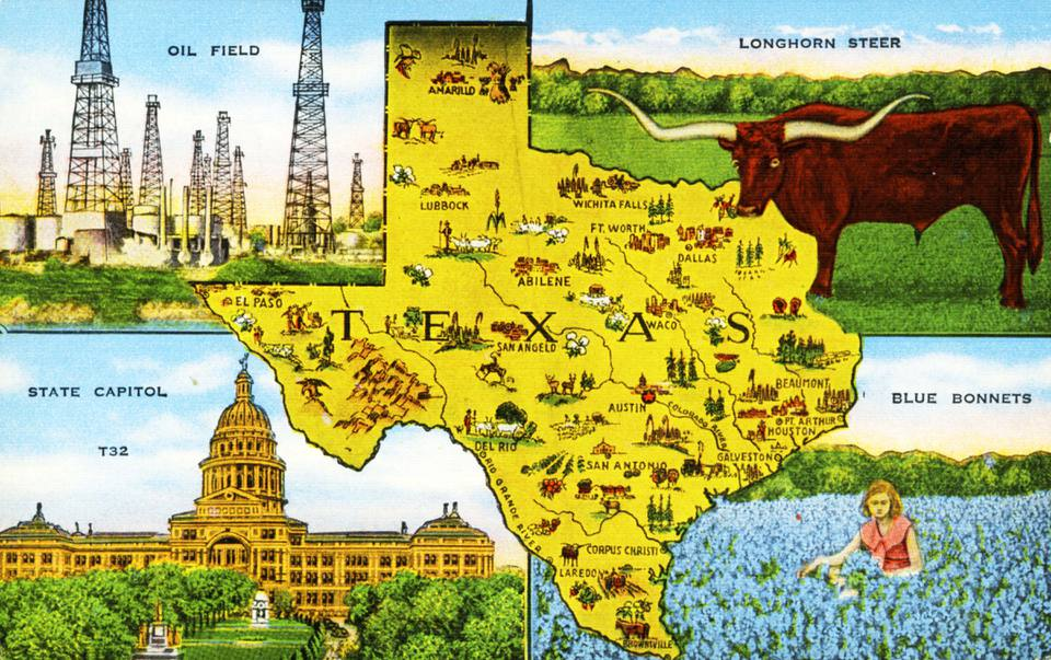 Old Texas postcard