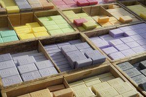 Savon de Marseille soap in a market in Marseille, France