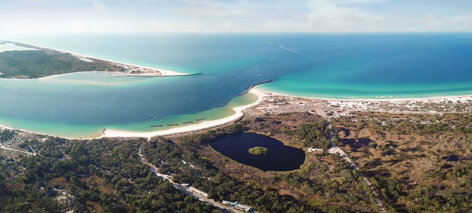 Aerial View of Gulf of Mexico, Panama City Beach