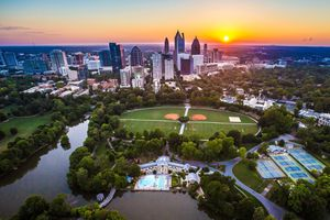 Piedmont Park Aerial shot, Atlanta