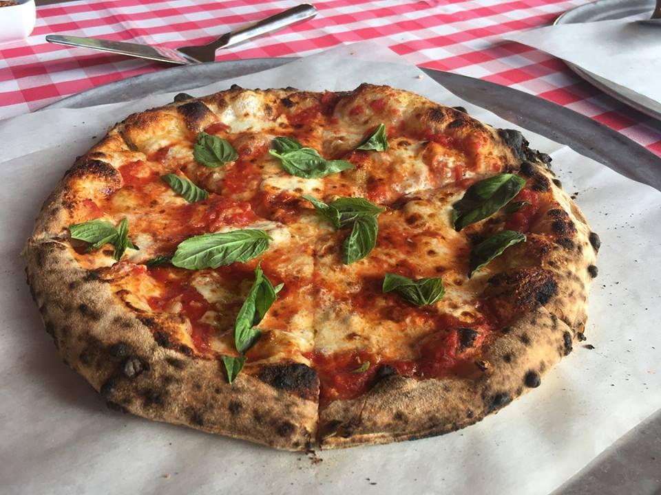 Margherita pizza at Apizza Scholls