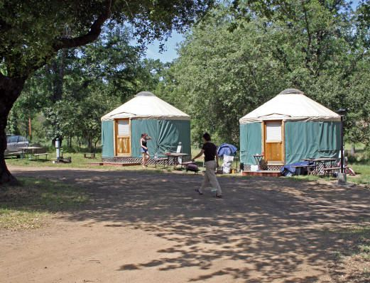Camping in a yurt: Yosemite Pines