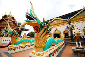 a colorful temple in Penang
