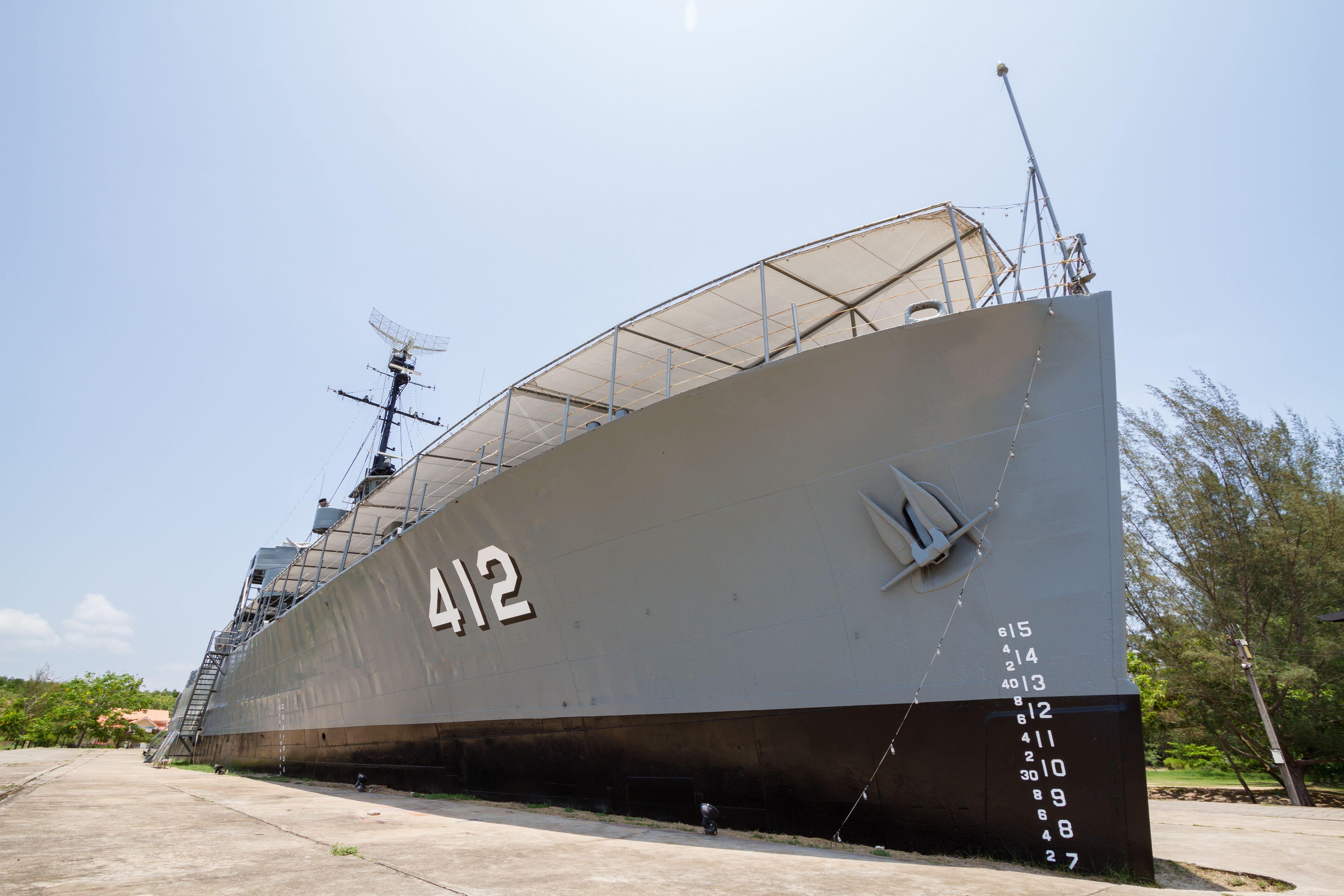 HTMS Prasae warship display in Rayong, Thailand