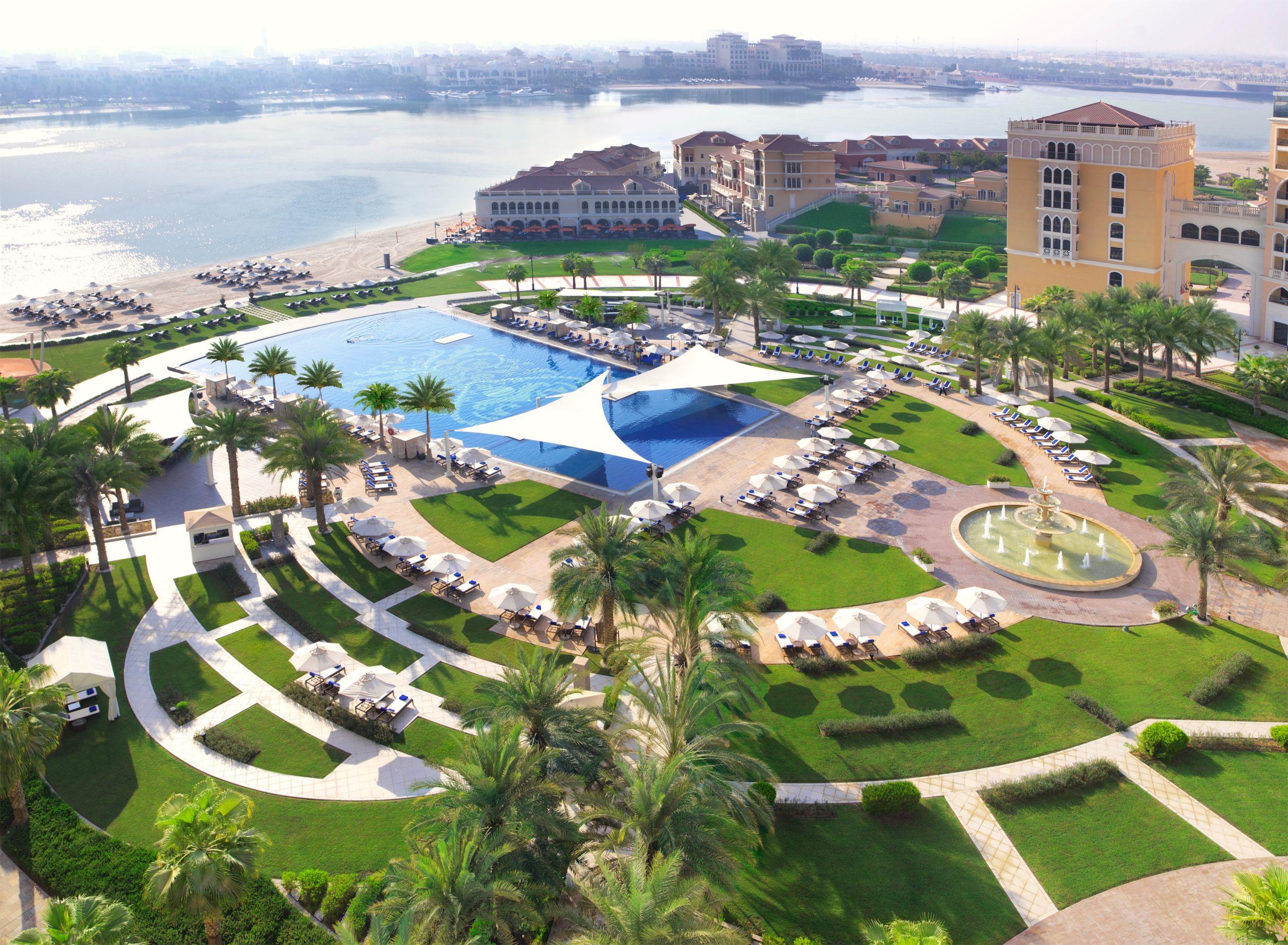 Aerial view of the Ritz-Carlton Abu Dhabi resort